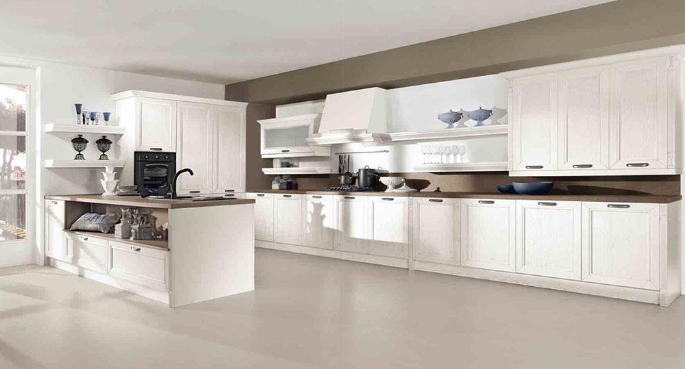 cucina classica contemporanea bianca