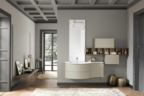 bagni con soffitto a cassettoni